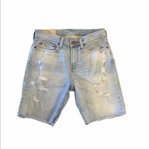 Hollister Distressed Jeans Shorts Size 28